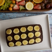 Torta de banano con nueces y chocolate (banana bread)