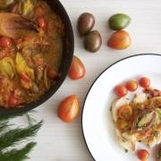 Pollo en vinagreta de tomates cherry