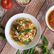 Espaguetis a la Norma (spaghetti alla Norma)