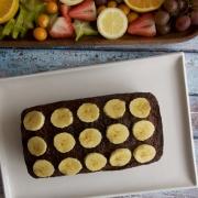 Torta de banano con nueces y chocolate (banana bread)