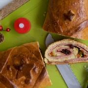 Pan de jamón tradicional de navidad