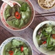 Curry verde con pollo (chicken green curry)