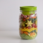 Cómo preparar un frasco de ensalada (o salad jar)