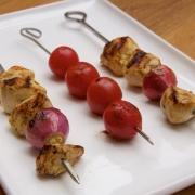 Kebabs de pollo y de tomates (Jujeh kebab)