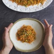 Ensalada de zanahorias y pistachos