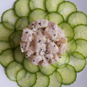 Tartar de pescado blanco