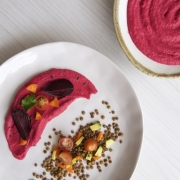Puré de coliflor rojo