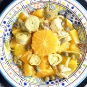 Ensalada de naranjas y alcachofas