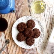 Galletas de harina de coco y brownie