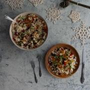 Arroz natalino: arroz brasileño con frutos secos