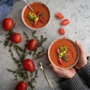 Sopa de tomates horneados