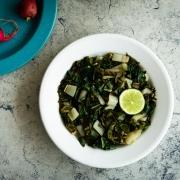 Acelgas caseras con aceite de oliva y ajo